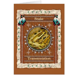 Snake  -Transmutation- Custom Greeting Card