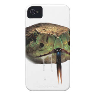 Snake Venom Bite Face iPhone 4 Covers