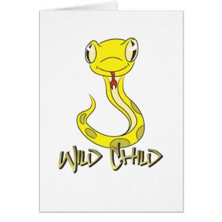 Snake WC yellow Greeting Card