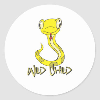 Snake WC yellow Stickers