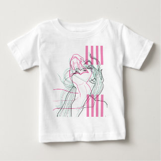 Snake woman design linear psychodelic graphic baby T-Shirt