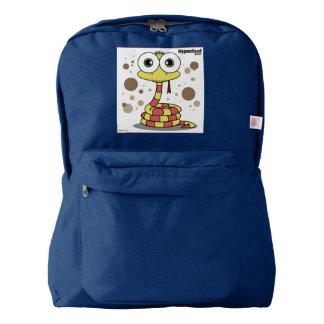 Snake(Yellow) Backpack, Navy Backpack