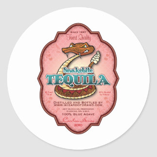 Snakebite Tequila Classic Round Sticker