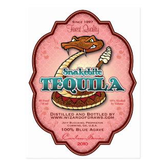 Snakebite Tequila Postcard