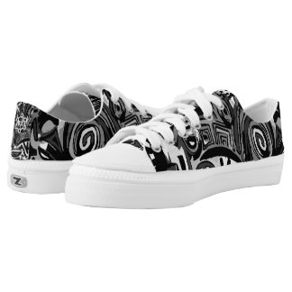 Snakers Black & White Low Tops