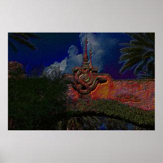 Snakes above wall Universal Studios Print