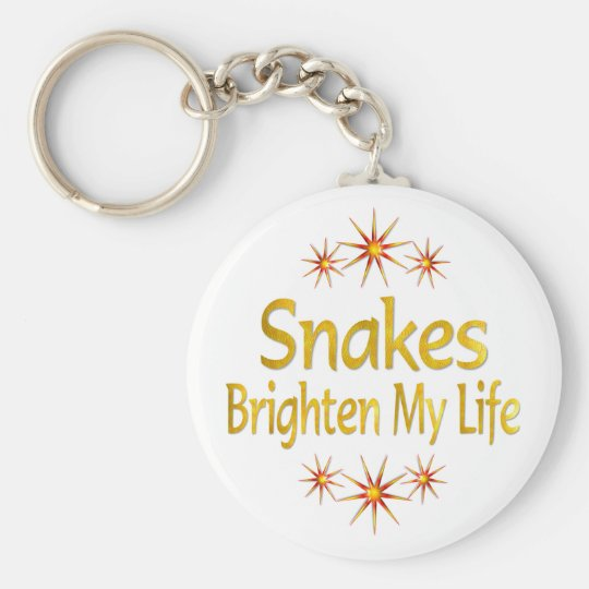 Snakes Brighten My Life Basic Round Button Key Ring
