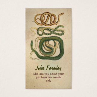 snakes business card