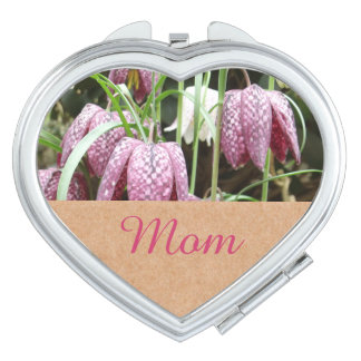 Snakes Head Fritillary Flowers Makeup Mirror