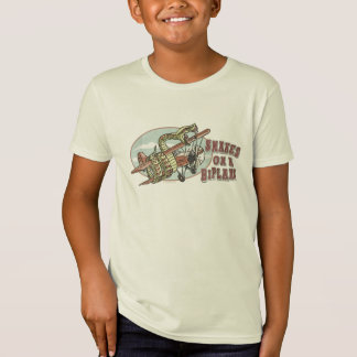 Snakes on a Biplane by Mudge Studios T-Shirt