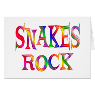 Snakes Rock Card