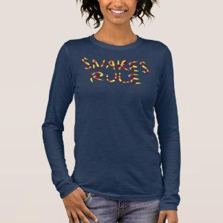Snakes Rule Lettering Long Sleeve T-Shirt