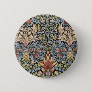 Snakeshead design by William Morris 6 Cm Round Badge