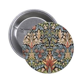 Snakeshead design by William Morris 6 Cm Round Badge
