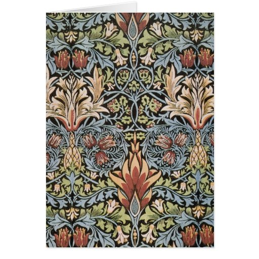 Snakeshead design by William Morris Greeting Cards
