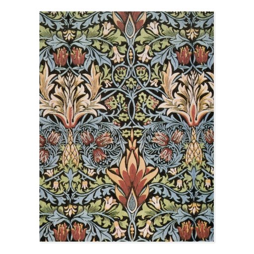 Snakeshead design by William Morris Postcards