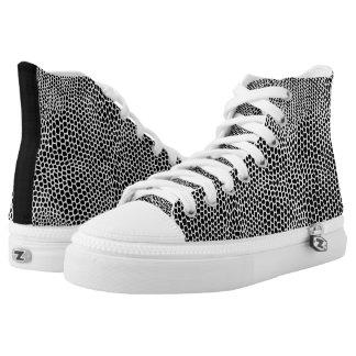 Snakeskin Black & White Pattern Hightops