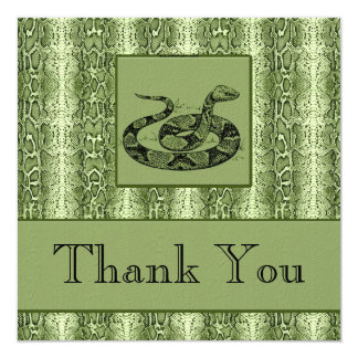 Snakeskin Executive Thank You Notes or Invitations