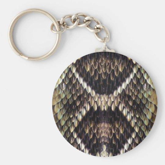 Snakeskin Print Keychain