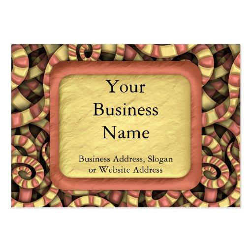 Snaky Spirals Business Cards