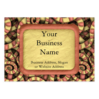 Snaky Spirals Pack Of Chubby Business Cards