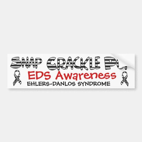Snap, Crackle, Pop EDS Ehlers-Danlos Sydrome Bumper Sticker