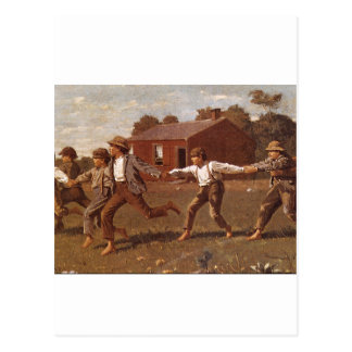 Snap the Whip', Winslow Homer_Great Work of Art Postcard