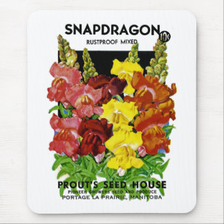 Snapdragon Vintage Seed Packet Mouse Pads