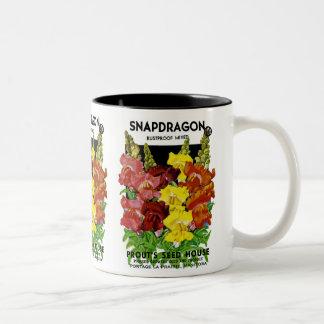 Snapdragon Vintage Seed Packet Mug