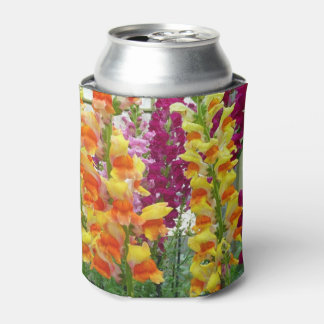 Snapdragons Colorful Floral Can Cooler