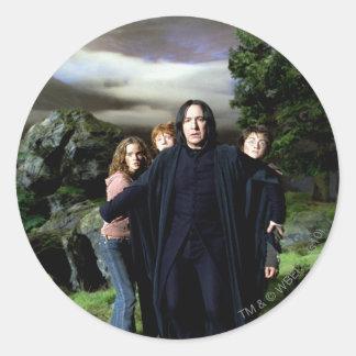 Snape Hermoine Ron Harry Classic Round Sticker