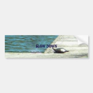 Snapper Turtle Slow Down Bumper Sticker