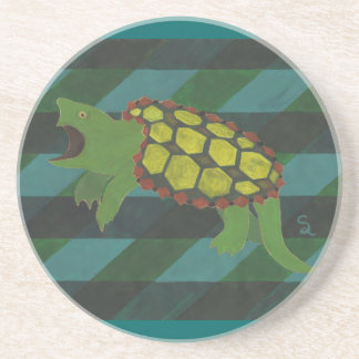 Snapping Turtle Beverage Coasters
