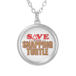 Snapping Turtle Save Silver Plated Necklace