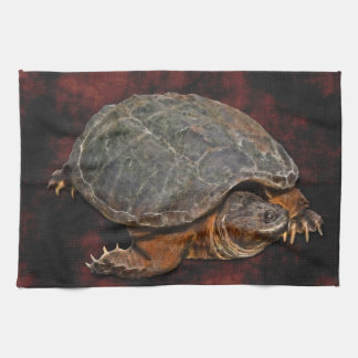 Snapping Turtle Terrapin-lover Gift Tea Towel