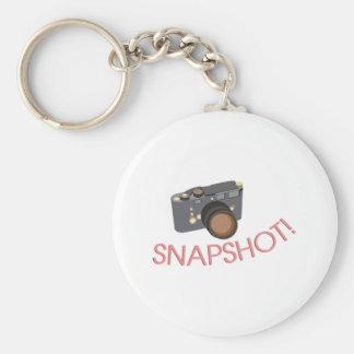 Snapshot Basic Round Button Key Ring