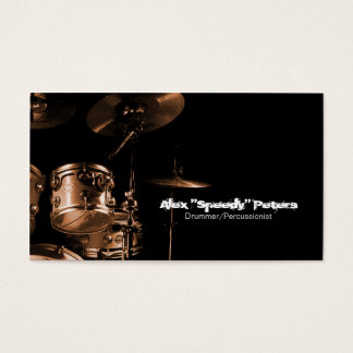 Snare and Tom Brown Drummer Business Card