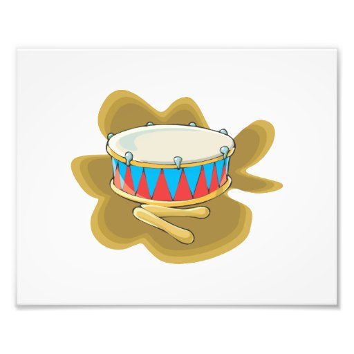 Snare drum and mallets percussion graphic photo print