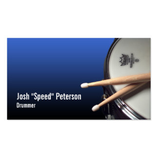 Snare Drum Blue Drummer Musician Business Card