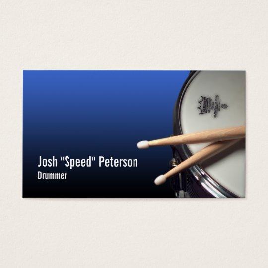 Snare Drum Blue Drummer Musician Business Card