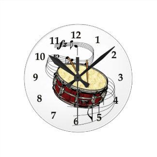 Snare Drum Round Clock