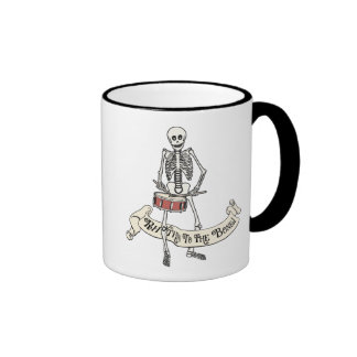 Snare Drum Skeleton Ringer Coffee Mug