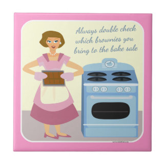Snarky Bake Sale Brownies Small Square Tile