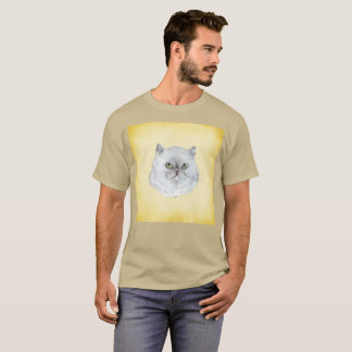Snarky Cat Furball Smirk Watercolor Rare T-Shirt