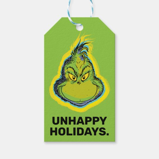 How The Grinch Stole Christmas TO ~ FROM Gift Tags Present Name Stickers Labels