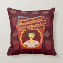 Snarky Microwave Retro Housewife Cushion