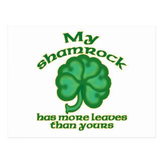 Snarky Shamrock Joke Postcards