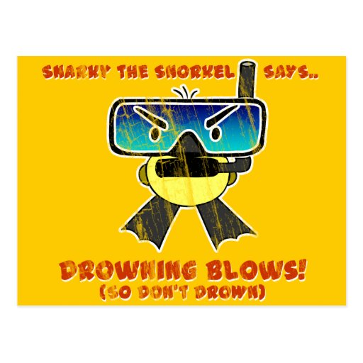 Snarky the Snorkel - Retro Post Card