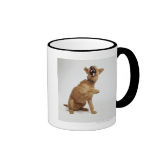 Snarling Dog Ringer Mug