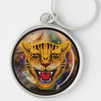 Snarling Tiger Nebula Keychain